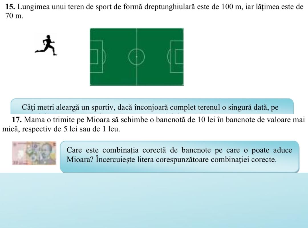 Modele de subiecte la Limba română și Matematică