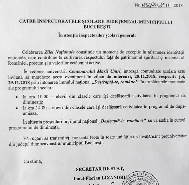 Ecaterina Andronescu, CERERE pentru elevii României. Să cânte imnul național la oră fixă 1
