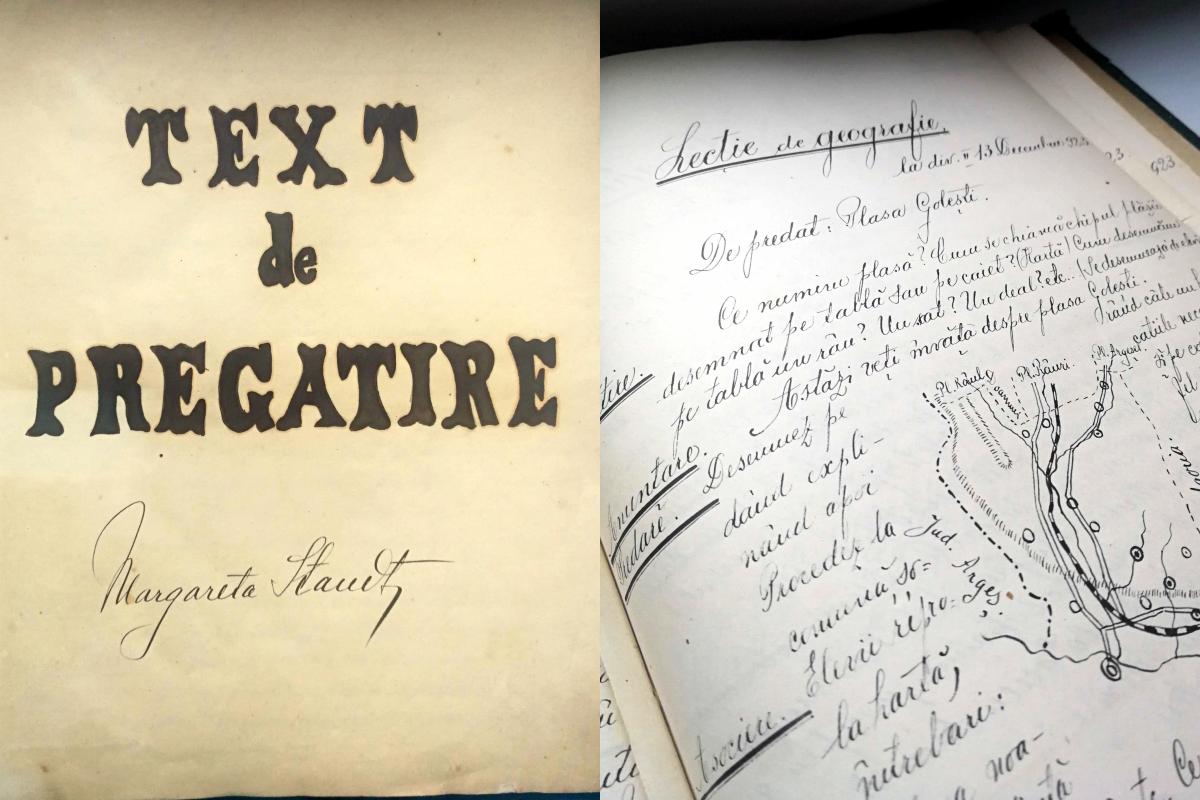 Manuscris vechi de 100 de ani despre lectii pentru elevi