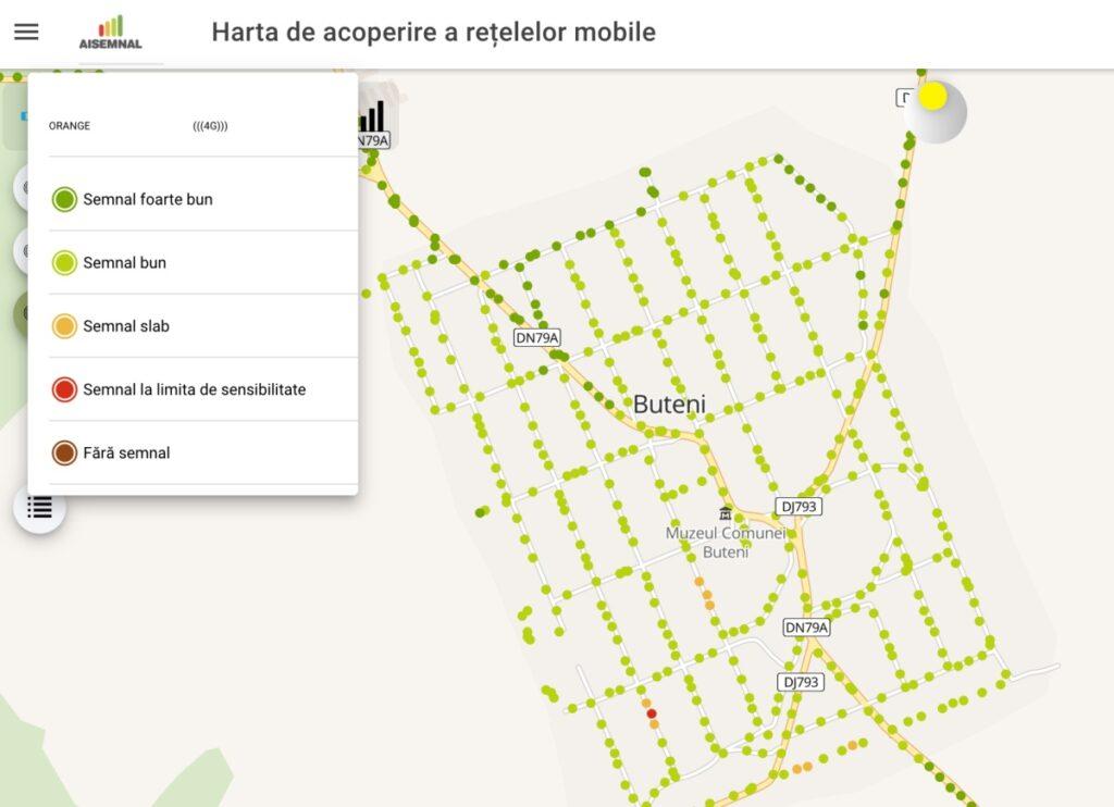 Harta de acoperire servicii mobile - Telekom