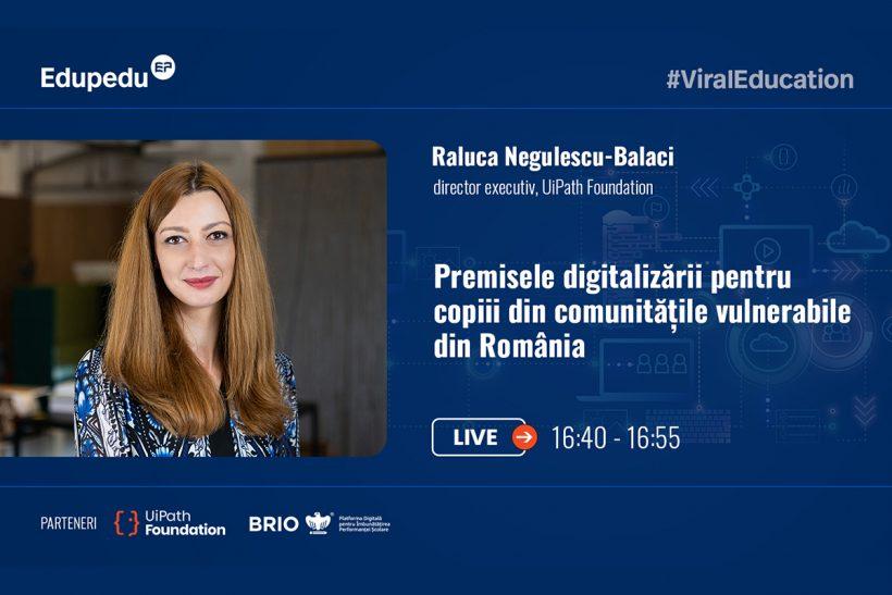 Raluca Negulescu-Balaci la Dezbaterea Reforma digitală a educației, marți 8 iunie