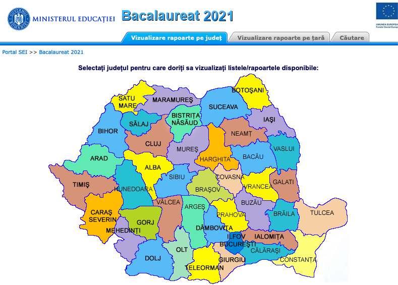 Harta Rezultate Bac 2021