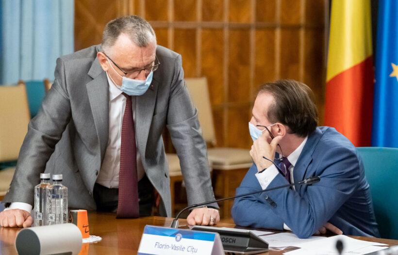 Sorin Cîmpeanu și Florin Cîțu, la Guvern / Foto: gov.ro